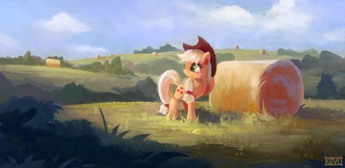 Out In The Field - Applejack by aJVL
