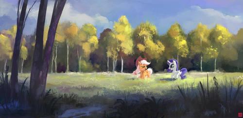 Two in the Field by aJVL