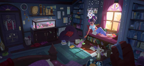 One Late Afternoon - Twilight Sparkle by aJVL