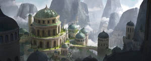 The Mountain Temple by aJVL