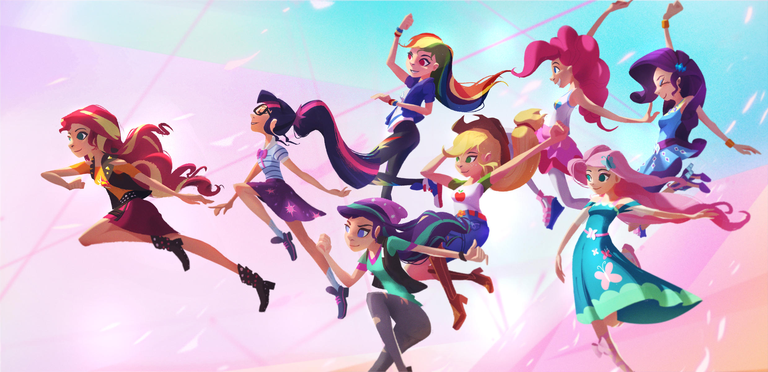 The Mane 8 - Equestria Girls by aJVL
