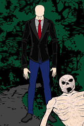 Slenderman and The Rake by Chiracy