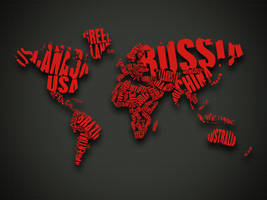 World Map Red by gustafnagel