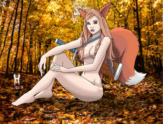 Forest Kitsune NSFW by TheGreenCount