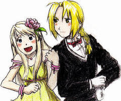 Ed and Winry ... Shopping? by CeruleanSan