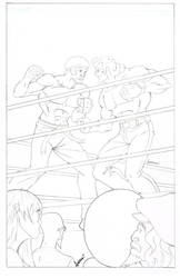 The Brawl To End them All Pencils by blaquejag