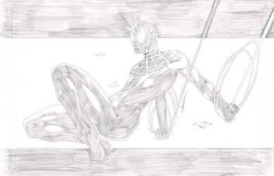 Ultimate Spiderman Pencils by blaquejag