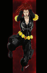 Black Widow Convention Print by blaquejag