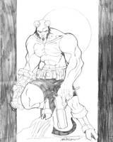 Hellboy by blaquejag