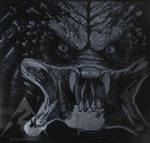 Predator engraving glass by Art2gn