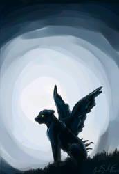 Moonlit Shadow by dsw