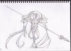 Azir Sketch - LoL by Ammy184