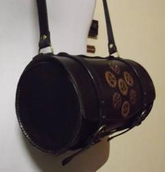 Barrel handbag with Gear motif by rwolf1970