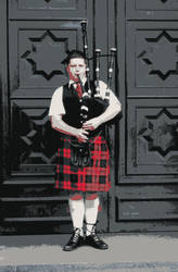 Scottish Bagpiper by seethebeautywithin