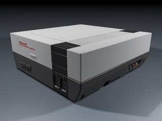 NES console 3D by MyBurningEyes
