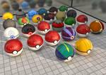Gotta throw 'em all, Forgotten Pokeballs! by MyBurningEyes