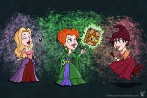 The Sanderson Sisters by NikkiWardArt