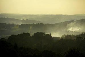 Foggy evening by kachahaha