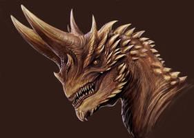horned dragon by TatianaMakeeva