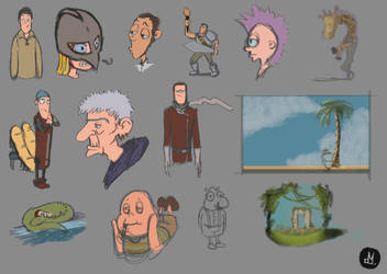 #sketch #everyday  #characters #digital by Atheu