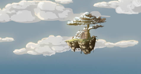 Flying Island by Atheu