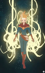 Captain Marvel by Atheu