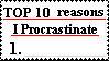 procrastinate stamp by mewpuddingrox