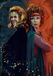 Bewitched - Samantha and Endora by elirain