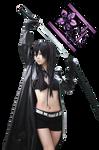 Render Cosplay Black Rock Shooter by Katxiru