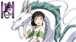 Render Chihiro y Haku El viaje de Chihiro by Katxiru