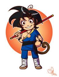 Re-imagine Goku by Nellufy