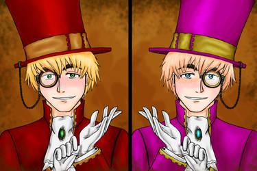 Steamtalia - Dr. Kirkland and Mr. Oliver by pozolegirl