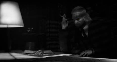 Detective Geralt by Battleghostsss