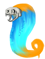 Otter Skull Spirit by KiwiSeahorse