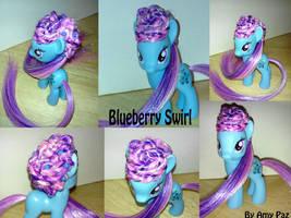 Custom Blueberry Swirl My Little Pony G4 FIM by Amyatpebble