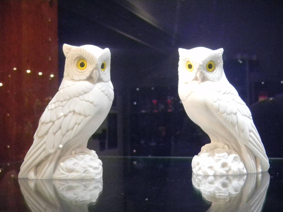 Little White Owl Statues By Sparkysilver