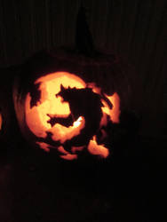 Werewolf Pumpkin by death-pengwin