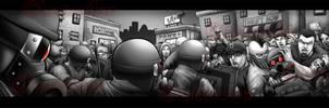 Riot Scene by LandonLArmstrong