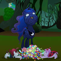 Luna likes her candy by MisterDavey