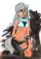 WolfGirl -2- by Wolf-of-Moonlight