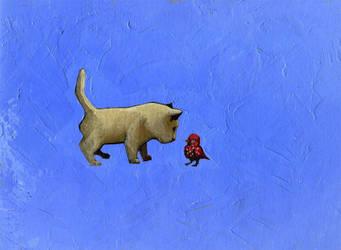 Bird Meets Cat by Narasura-of-Kashi