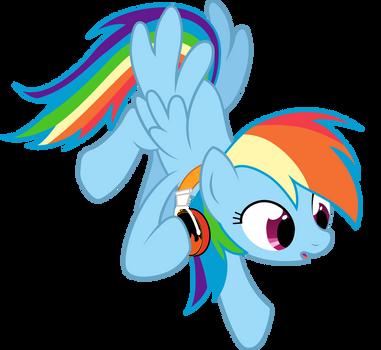 Rainbow Dash's Flaming Headphones by Cubonator