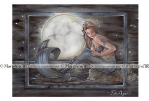 Full Moon by MarjoleinART