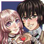 Couple Icon YCH - 04 b by GazeRei