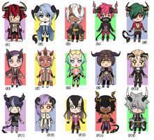 [CLOSED] Mini chibi ADOPTS #5 - 500 points OR 6$ by GazeRei