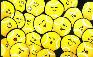 Happy Tennis Balls by eugeal