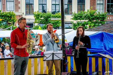 Street Musicians Playing The Streets by SIG442