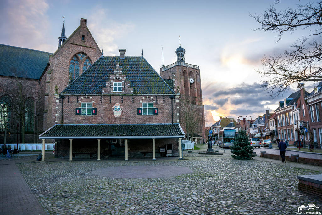 Church And Town Center With Amazing Skies by SIG442