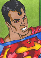 ACEO Superman ANGRY by Furyian