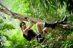 Lara Croft in the jungle by Lena-Lara